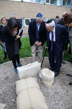 Unveiling of the Holocaust Memorial at St Aidan's College in Durham. The work highlights the connection between Bergen Belsen, one of Germany's most notorious Second World War concentration camps, and the Durham Light Infantry (DLI).