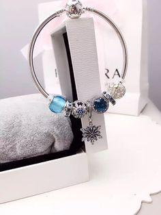 50% OFF!!! $199 Pandora Bangle Charm Bracelet Blue. Hot Sale!!! SKU: CB02081 - PANDORA Bracelet Ideas