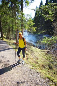 """Nordic Walking<<sometimes we do this for dryland training for Nordic, but one of our coaches calls it """"Squaking"""" or ski walking"""