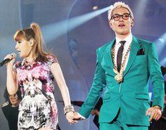 T.O.P & Bom #YG #2NE1 #BIGBANG