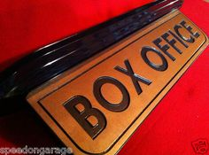 vintage style art deco movie theater box office sign home theater mancave ebay art deco box office loew