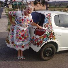 Hungarian grandma in Kalocsa traditional costume. Just love it!