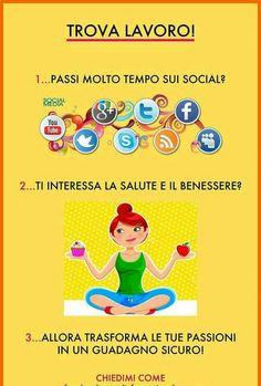 Lavorare coi social!Contattami se desideri ricevere maggiori informazioni!