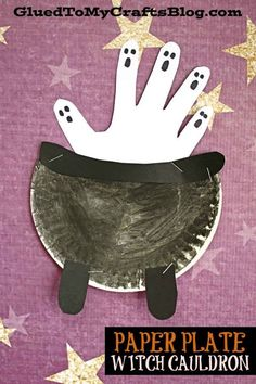 halloween crafts Double, double toil and trouble; Fire burn, and cauldron bubble! We are sharing another eerily enchanting kid craft idea today and this one is titled Paper Plate Witch Cauldron. Its perfect for your Halloween craft plans! Halloween Crafts For Toddlers, Halloween Arts And Crafts, Fall Crafts For Kids, Toddler Crafts, Halloween Crafts Kindergarten, Kids Arts And Crafts, Holiday Crafts, Cute Kids Crafts, Spring Crafts