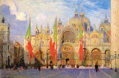 "Aldro Thompson Hibbard - ""San Marco, Venice"""