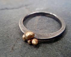 gold nugget ring by ArtigianoJewelBox on Etsy, $67.00
