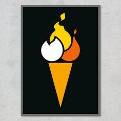 Hvis du både er til sødt og stærkt, så er denne spicy isvaffel vist lige noget for dig! Instagram, Design, Minimalism, Design Comics