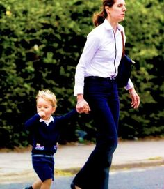 July 12, 2015 - Prince George and Nanny Maria walking in a London Park.