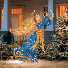 Holiday Christmas Lighted Holy Angel Indoor Outdoor Yard Art Garden PreLit Decor #Unbranded