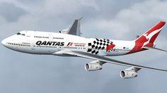 Qantas Boeing B747-48E Australian Formula 1 Grand Prix 2011
