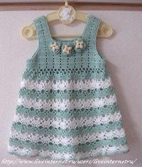 Crochet Baby Dress Crochet patterns free: Beautiful Dress With soft Colors Baby… Crochet Dress Girl, Crochet Bebe, Baby Girl Crochet, Crochet Baby Clothes, Crochet For Kids, Crochet Yarn, Crochet Top, Crochet Dresses, Crochet Flower
