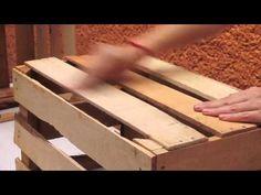 Mesas de Madera con cajas reciclables - YouTube