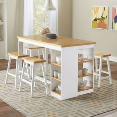 Buy Christy Counter Storage Table at FurniturePick store. This casual Christy Counter Dining Room Collection by Progressive Furniture is simple in design and comfortable in many settings. Kitchen Table With Storage, Table Storage, Kitchen Decor, Kitchen Dining, Kitchen Island, Dining Furniture Sets, Dining Room Sets, Furniture Design, Coaster Furniture