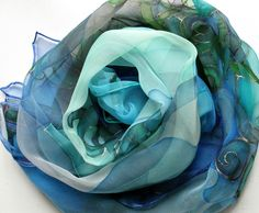 hand painted silk scarf from silkstory