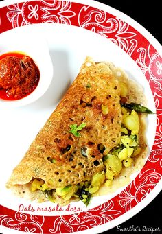 Oats masala dosa recipe – Masala dosa, a crispy thin crepe made of fermented lentils and rice batter, is one of the favorite food of south Indians. Restaurants and tiffin centers serve so many varieties of masala dosas like mysore masala dosa, rava masala dosa, onion rava masala dosa etc. My first trial with oats …