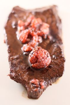 Raspberry and Red Wine Steak - summery, flavorful, and delicious