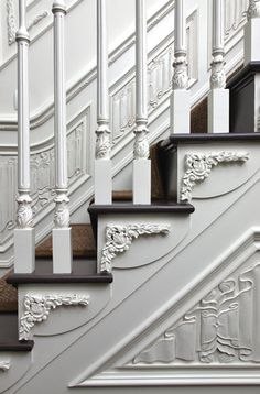 Gorgeous White Victorian staircase.