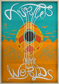 Turtles eat Worlds   Poster by Giacomo Marangon   www.giacomomarangon.altervista.org https://www.behance.net/gallery/23868269/Turtles-Eat-Worlds