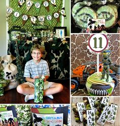 This is one mega boyish and camo covered HALO Themed Birthday Party by Littlebeane Boutique!