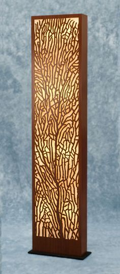Decorative Laser-Cut Paper | Decorative Laser Cut Wood Floor Lamp this would work for the l.e.d. strip lighting karl wants to use. hmm......