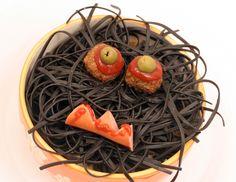 Spaghettikopf mit Augäpfeln