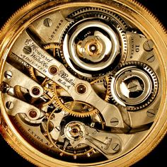 Antique Pocket Watch Gears Print Photographs And Gears