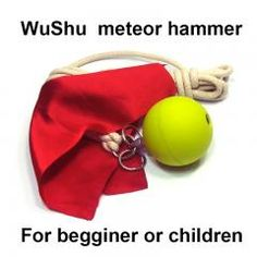 Wushu Meteor Hammer For Beginner Or Children China Kung Fu Solid Rubber Ball Self Defense Moves, Assassins Creed Art, Martial Arts Weapons, Cotton Rope, Kung Fu, Bodybuilding, Coin Purse, China, Children