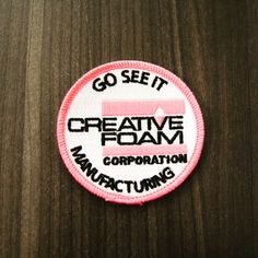 We made our Badge Pink for the Girl Scout Tour May 2016