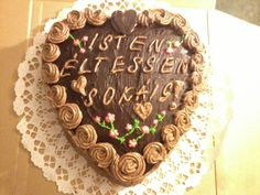 Csoki torta szív kivitelbe