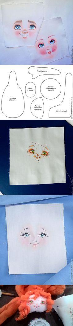 Пришиваем лицо кукле из ткани - Ярмарка Мастеров - ручная работа, handmade