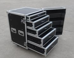 Smile Tech 5 drawers flight case with caster wheels - (Skype: rackcase020)