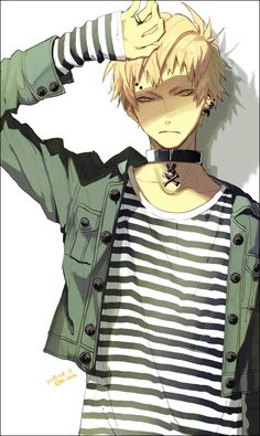 Noiz. He's such a cutie. He looks like he wandered into a hot topic with a credit card and said one of everything, but I still love him.