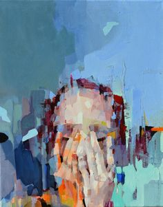 """Saatchi Art Artist: Melinda Matyas; Oil 2014 Painting """"When Silence happens in the Marketplace"""""""