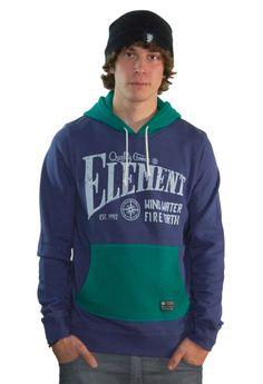 ELEMENT ROYSTON PULLOVER INDIGO www.fourseasonsclothing.de  #element #skateboard #skate #streetwear #new #hoodie
