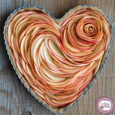 Valentine's Apple Rose Tart Apple Slices before baking.