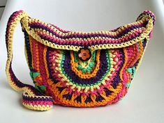 Crochet mandala girls purse #crochetpattern #crochet