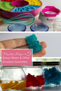 #BoozyBears and #DrunkenGummies take a standard liquor shot up a level. Make these for your next party!