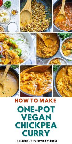 This One-Pot Vegan Chickpea Curry is fragrant, creamy, and simple to make! Made with a coconut base and full of chickpeas and cauliflower, this is sure to become your favorite vegan, Indian-inspired meal! Easy Vegan Dinner, Vegan Dinner Recipes, Vegan Dinners, Bhg Recipes, Vegan Chickpea Curry, Curry Dishes, Vegan Comfort Food, Vegetarian Soup, Curry Recipes