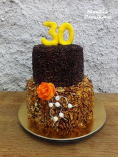 Chocolate walnut CAKE. Netradiční čoko-ořechový DORT.