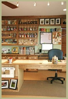 Rooms of Inspiration: A Dream Craft Room / Home Office