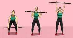 20 simple exercises with the broomstick for buttocks, abdomen and legs, Gym Workout Tips, Pilates Workout, Easy Workouts, Pilates Mat, Chico Yoga, Faire Des Squats, Tonifier Son Corps, Fitness Tips, Health Fitness