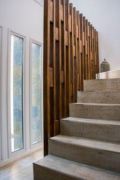 New Staircase, Modern Staircase, Staircase Design, Living Room Partition Design, Room Partition Designs, Creative Wall Decor, Wall Decor Design, Door Gate Design, Front Door Design