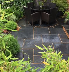 Garden Design and Build all-in-one solution based in Salisbury, Wiltshire Limestone Paving, Bespoke Design, Garden Design, Patio, Building, Plants, Black, Custom Design, Black People