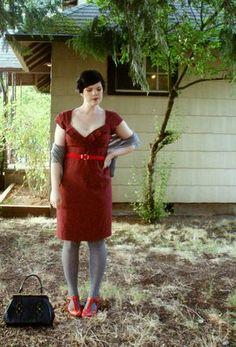 Some girls wander: red & grey