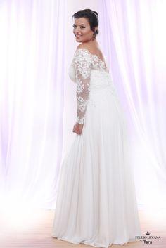 Plus size wedding gown White collection Tara (2)