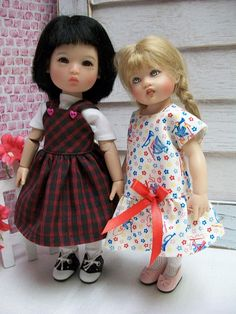 Instant Delivery 9 page pattern for a wardrobe to fit an 8 Doll. Full size patterns and instructions for 3 dresses (2 piece mid and drop waist dresses and a high waist dress) , skirt, blouse, play suit, panties, size 5 and size 6 bonnet and size 5-6 Beret. My Patterns have no restrictions,