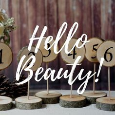 Log slice standing table numbers. . #gftwoodcraft