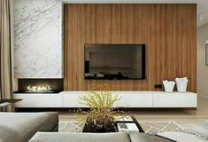 Best TV Wall Living Room Ideas Decor On A Budget – Page 47 of 60 – For the Home – fireplace Living Room Modern, Living Room Interior, Home Living Room, Modern Tv Wall, Small Living, Living Room Decor Fireplace, Home Fireplace, Fireplace Mantels, Living Room Tv Unit Designs