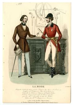 Men's Wear 1830-1849, Plate 048. Fashion plates, 1790-1929. The Costume Institute Fashion Plates The Metropolitan Museum of Art, New York. Gift of Woodman Thompson (b17509853) #fashion