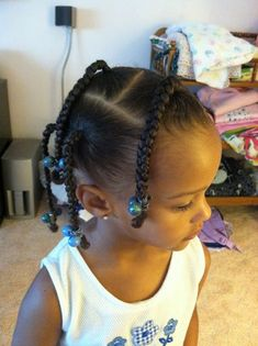 Aug 2019 - Braids for Kids, 50 Splendid Braid Styles for Girls, The Right Hair styles you can count on. It is quit challenging sometimes when it comes to finding the ri. Mixed Kids Hairstyles, Lil Girl Hairstyles, Natural Hairstyles For Kids, Kids Braided Hairstyles, Natural Hair Styles, Black Hairstyles, Hairstyles Men, Braids For Kids, Girls Braids